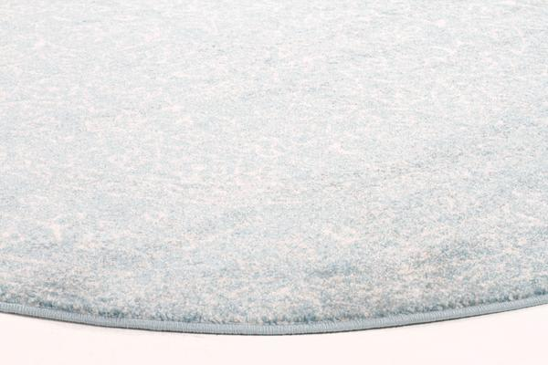 Depth Blue Transitional Rug 240x240cm