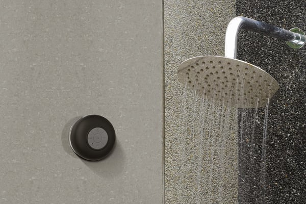 Kogan Water Resistant Bluetooth Shower Speaker (Black)