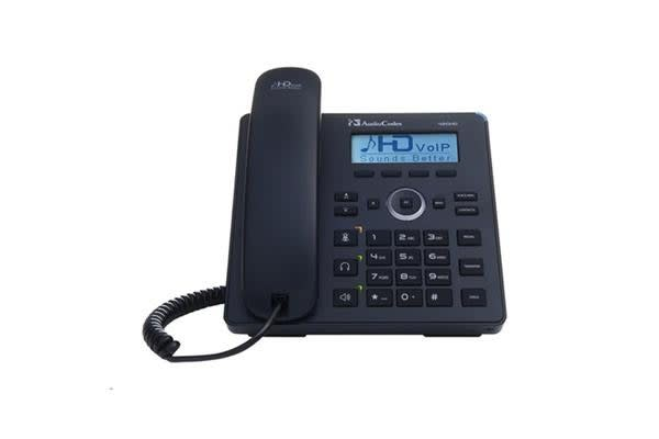 AudioCodes Lync 420HD IP-Phone POE Black 2 Lines Including 2nd Ethernet Port
