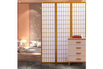 Natural Color Wooden Foldable Room Divider 6 Panel