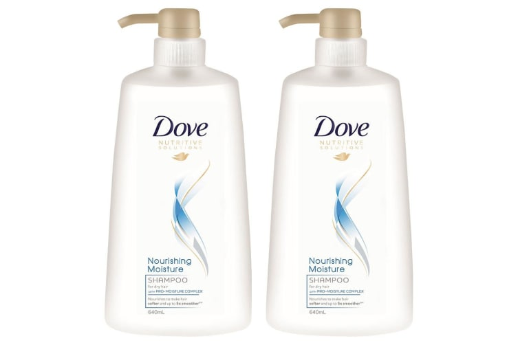 2x Dove 640ml Shampoo Nourishing Moisture Pro-Moisture Complex For Dry Hair Care