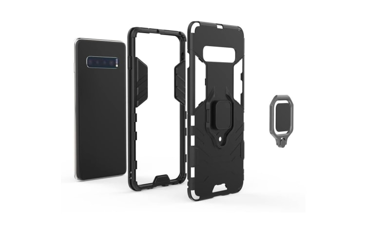For Samsung Galaxy S10 Case  Navy Blue Armour Ring Holder Shockproof Phone Cover