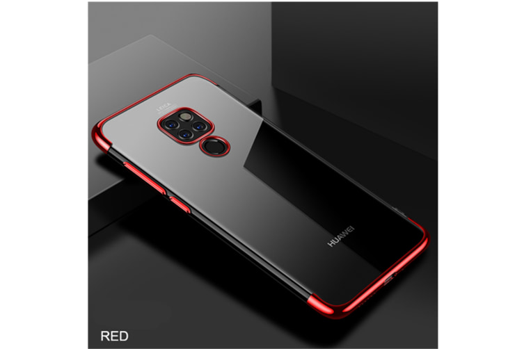 Soft Transparent Tpu Cover Ultra Thin Clear Shell For Huawei Red Huawei P20