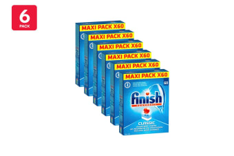 360 Finish Classic Powerball Dishwashing Tablets (6 x 60 Pack)