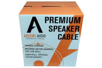 Accent Audio Premium Speaker Cable - 16 Guage 2 Core Tinned Copper - 64 Strand - 4.75mm Overall