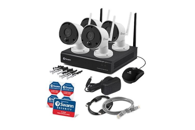 Swann 4 Channel Security System with 4 x  1080p Full HD Thermal Sensing Cameras (SWNVK-490KH4-AU)