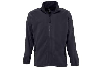 SOLS Mens North Full Zip Outdoor Fleece Jacket (Charcoal) (5XL)