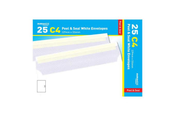 Impact C4 Peel & Seal White Envelopes (Pack Of 25) (White)