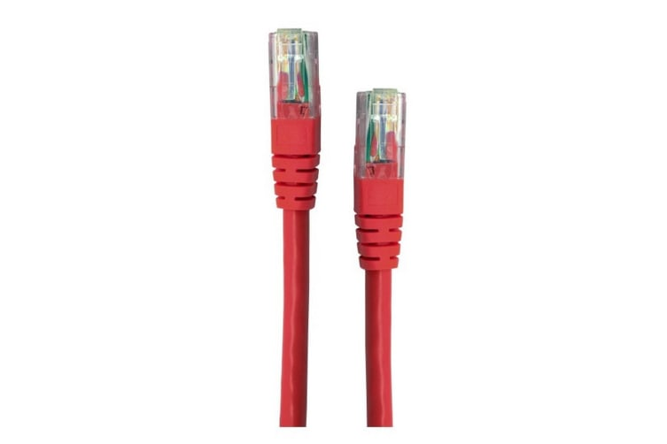 2M Red CAT6 Patch Lead