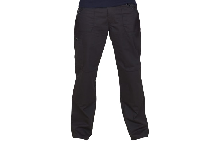 UCC Mens Workwear Action Trouser (Regular) / Pants (Black) (44W x Regular)