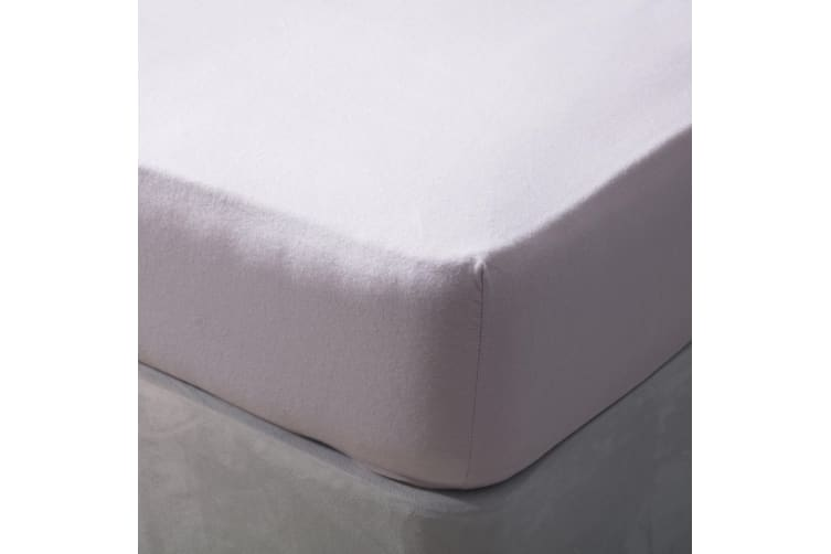 Belledorm Brushed Cotton Extra Deep Fitted Sheet (Heather) (Double)