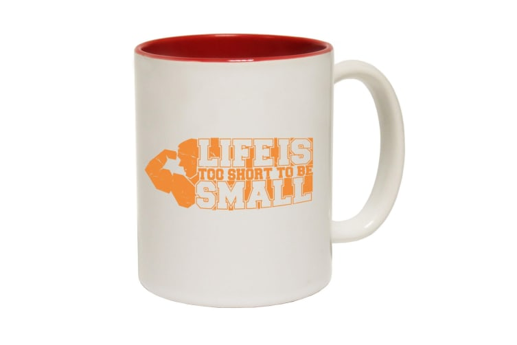 123T Funny Mugs - Swps Life Is Short To Be Small - Red Coffee Cup