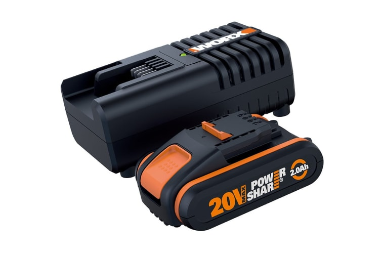 WORX Powershare 20V 2.0Ah MAX Lithium-ion Battery and Charger Kit (WA3601)