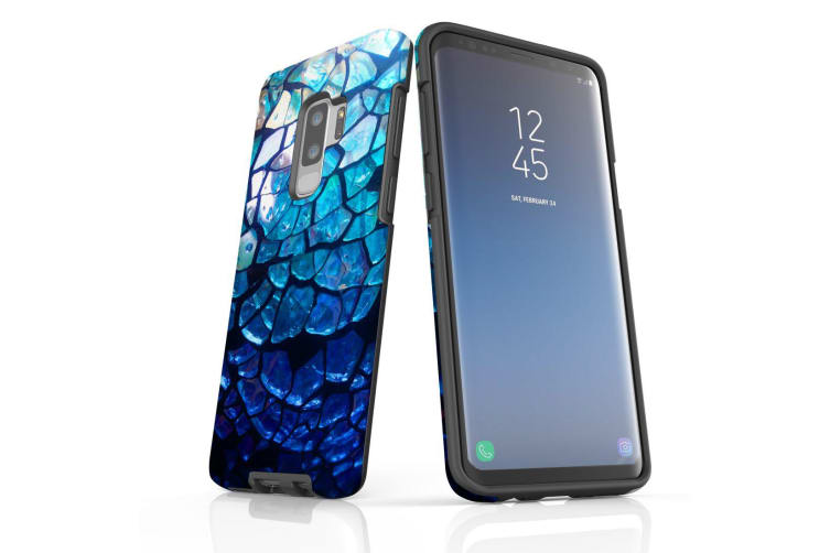 For Samsung Galaxy S9+ Plus Case Armour Cover  Blue Mirror