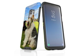 For Samsung Galaxy S9 Case Armour Cover  Dogs Fun at the Park