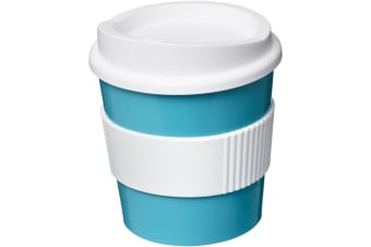 Americano Primo 250ml Insulated Tumbler With Grip (Aqua Blue/White)
