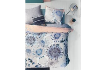 Sunflowers Blue Quilt Cover Set King