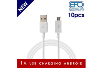 10Pc 1M Usb Charging Cable Micro Usb Connector For Samsung Htc Sony Windows 10X