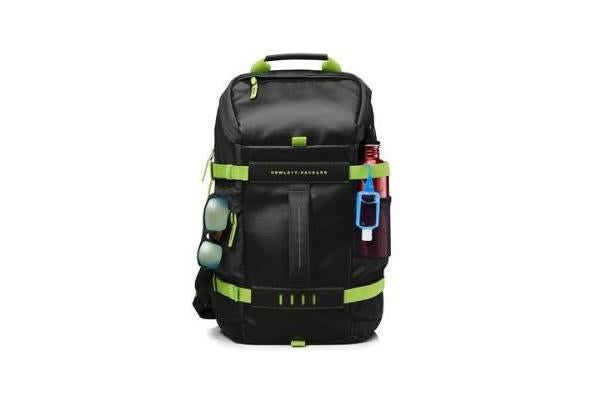 HP ODYSSEY BACKPACK BLACK GREEN 15.6