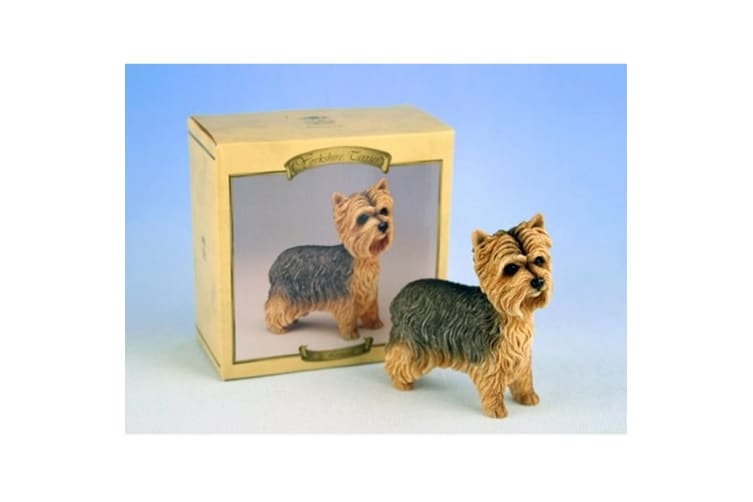 Yorkshire Terrier Dog Figurine (Brown) (15cm)