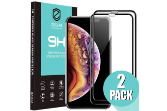 """ZUSLAB iPhone 11 / iPhone XR 6.1"""" Tempered Glass Screen Protector Case Friendly 9H Hardness for Apple (2 Packs)"""