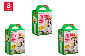 Fujifilm Instax Mini Film - 20 Sheets (3 Pack)
