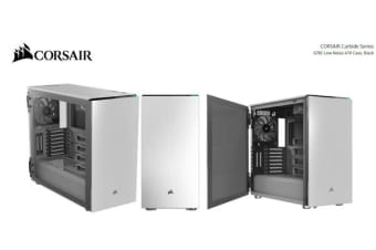 "Corsair Carbide Series 678C Low Noise Tempered Glass ATX, 1x 5 25' Ext 6x  3 5"", 3x 2 5 E-ATX Case, White PWM Fan Controller, 2 Yrs Warranty"