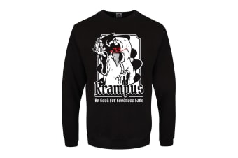 Grindstore Mens Krampus Christmas Jumper (Black) (L)