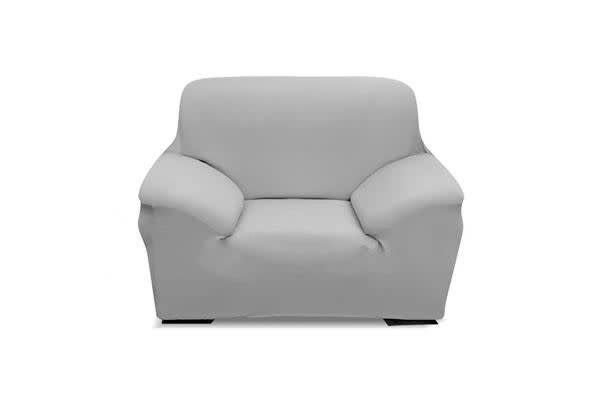 Easy Fit Stretch 1-Seater Couch Sofa Slipcover GREY