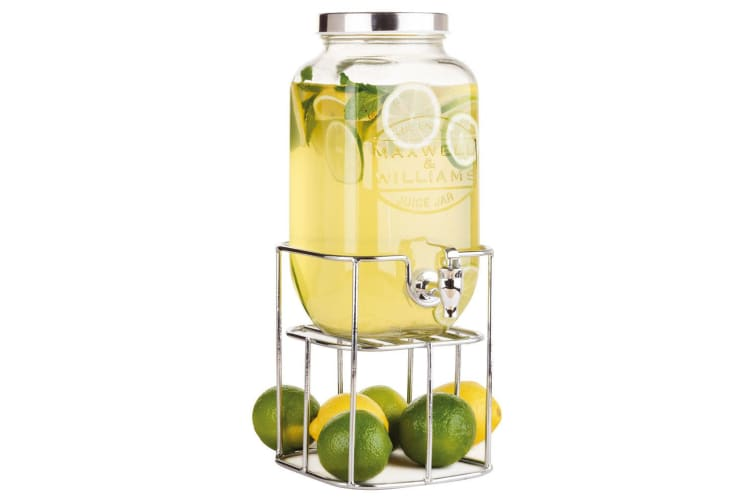 Maxwell & Williams Olde English Juice Jar and Stand 3.5L Glass Drink Dispenser