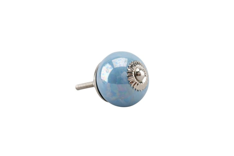 CGB Giftware Blue Pearlescent Drawer Handle (Blue) (One Size)