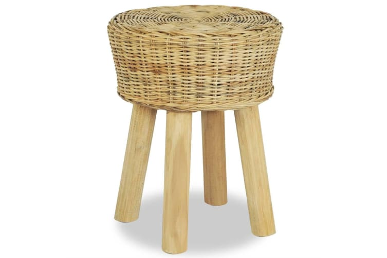vidaXL Bar Stool Natural Rattan