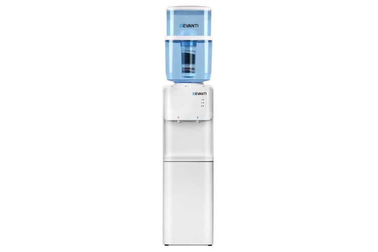 Devanti 22L Water Cooler Dispenser Stand Hot Cold Taps Filter Purifier Bottle