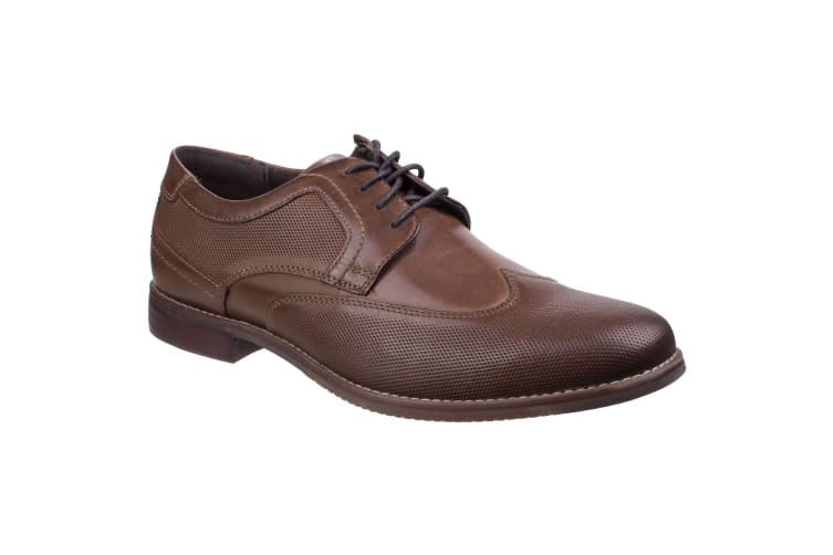 Rockport Mens Style Purpose Perf Wingtip Lace Up Leather Shoes (Brown) (8 UK)