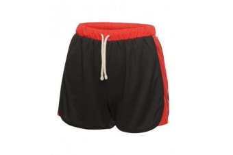 Regatta Activewear Womens/Ladies Tokyo II Contrast Shorts (Black/Classic Red) (14)