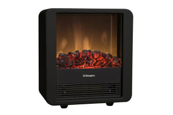 Dimplex 1 5kw Mini Cube Portable Electric Fire Heater With Optiflame Coal Effect Piano Black