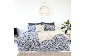 Arabica Navy Quilt Cover Set by Apartmento