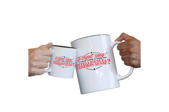 123T Novelty Funny Giant 2 Litre Mugs - Forget Sexy Common Sense