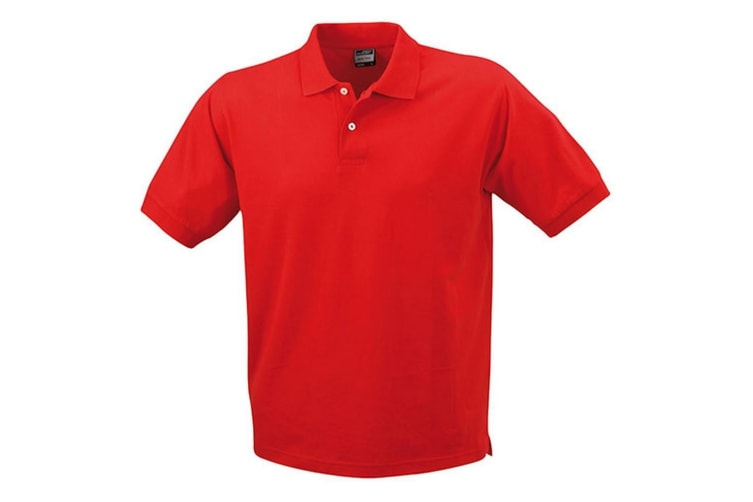 James and Nicholson Unisex Basic Polo (Red) (3XL)