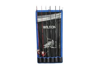 Wilson Fishing Rod Hanger-Wall Hanging Fishing Rod Holder-Holds 6 Rods or Combos
