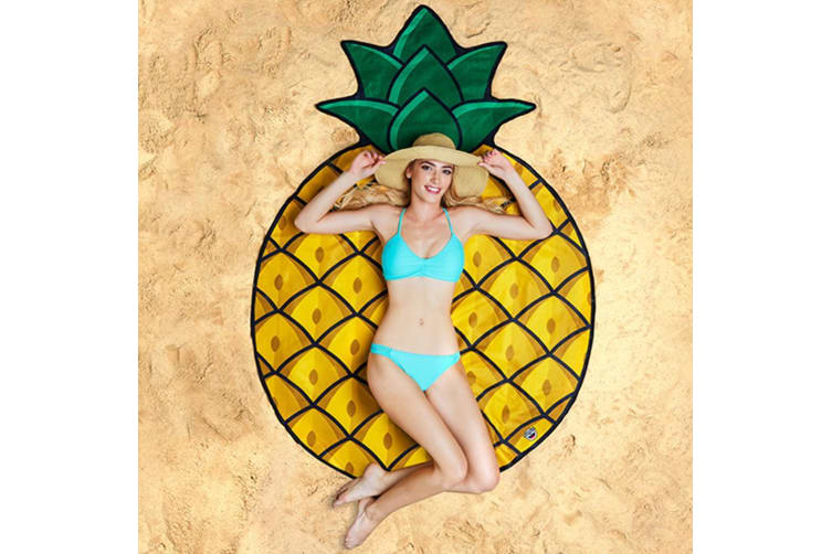 Gigantic Pineapple Beach Blanket 152cm by BigMouth