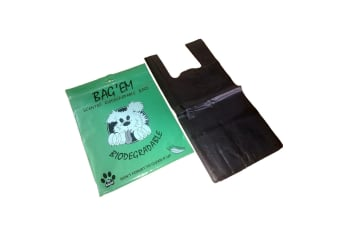 Bag Em Biodegradable Dog Poo Bags (Pack Of 50) (Black) (One Size)