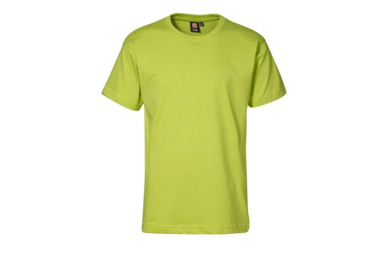 ID Childrens/Kids T-Time Regular Fitting Short Sleeve T-Shirt (Lime) (12/14)