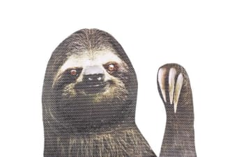 thumbsUp Ride With Car Window Sticker - Sloth