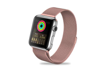 ZUSLAB iWatch Stainless Steel Wristband Band For Apple Watch 38mm 40mm Series 5 4 3 2 1 - Hot Pink