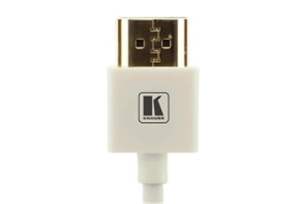 Kramer Ultra Slim High Speed HDMI Flexible Cable with Ethernet - 91.44cm - White