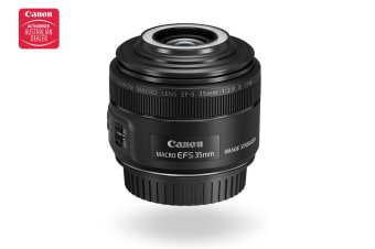Canon EF-S 35MM f/2.8 IS STM Macro Lens with Macro Lite (EFS35M)