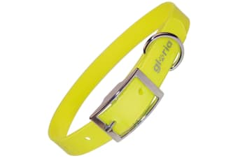Gloria TPU And Nylon Dog Collar (Yellow) (61cm)