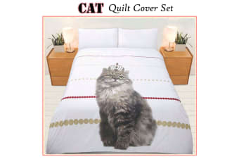 225TC Cat Quilt Cover Set Single by Bright Young Things