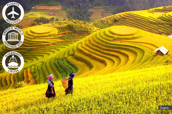 VIETNAM: 18 Day Grand Tour of Vietnam Including Flights for Two